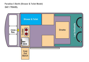 Daytime paradise Shower & Toilet Floorplan