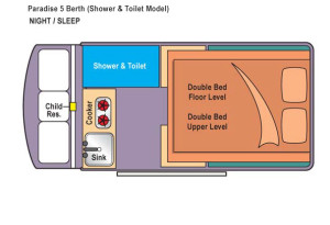Nighttime paradise Shower & Toilet Floorplan